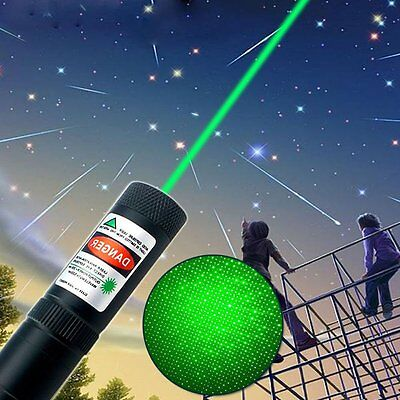 New Green 10mile Laser Pointer Pen 532nm 850 Visible Beam Bright Light High 1MW