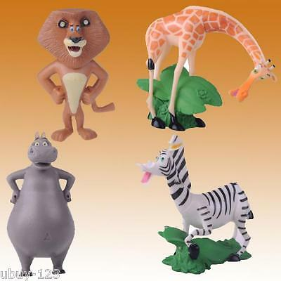 Madagascar 3 Movie Toy PVC Figure Cake Topper 4 pcs Playset doll *USA SELLER*