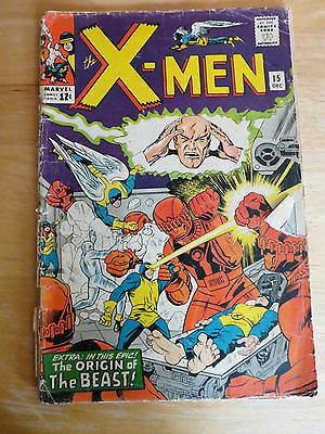 The X-Men #15 (Dec 1965, Marvel) GD-