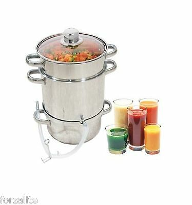 Stainless Steel STEAM JUICER Steamer Cooker Large Capacity Juice Maker