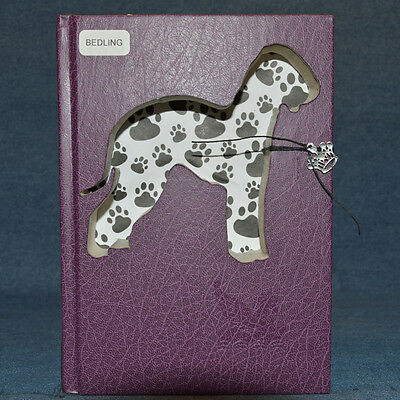 Bedlington Terrier Upcycled Book - 003