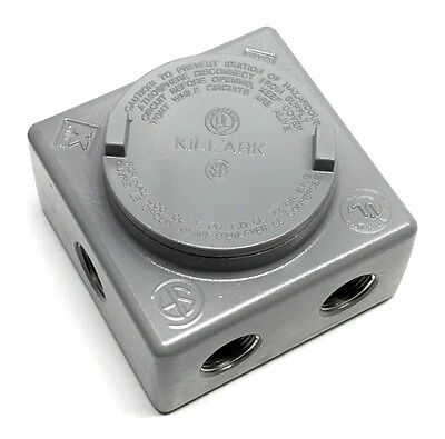 "Killark GRSS-2 Explosion Proof 3/4"" Outlet Box with 7 Hubs"