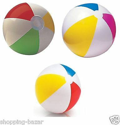"Inflatable Blow up Panel Beach Ball Fun Holiday Party Swimming Garden 16"" 20 24"""
