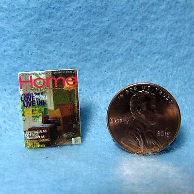 Dollhouse Miniature Replica of Home Magazine ~ Cover Only