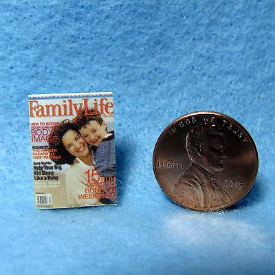 Dollhouse Miniature Replica of Family LIfe Magazine ~ Cover Only