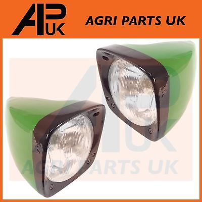 PAIR of John Deere 1030,1040,1630,1640,1950,2030,2040 Tractor Headlight Headlamp