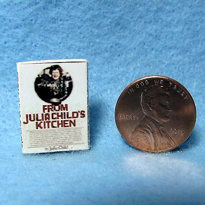 Dollhouse Miniature Replica of From Julia Child's Kitchen Cookbook ~ Cover Only