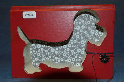Dandie Dinmont Terrier Upcycled Book - 002