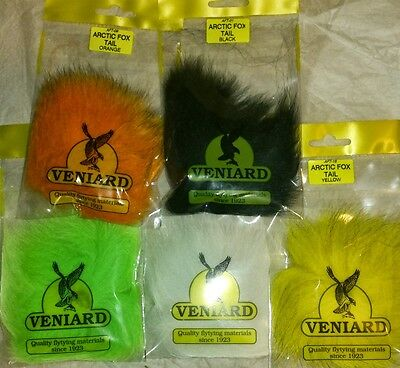 Veniard Arctic Fox Tail Dyed Perfect for Tails and Hairwing Patterns TOP SELLER
