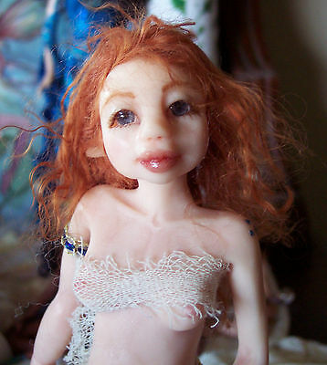 Adorable pregnant fairy polymer doll!  red hair Resale Lil People!!!