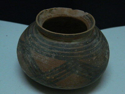 "Indus Valley Teracotta Painted Pot C.2500 Bc  """"t15277"""""