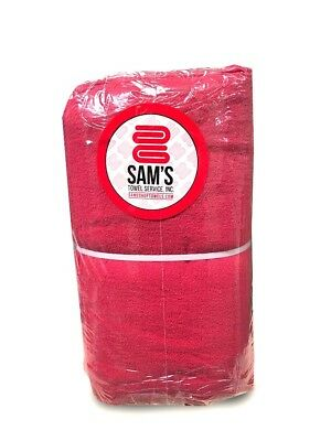 Pack Of 100 Brand New Red Shop Towels For Industrial Use (100% Cotton!)