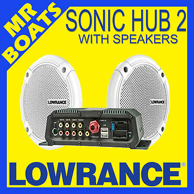 LOWRANCE - SONIC HUB 2 - Marine Bluetooth Radio Stereo Boat Suits HDS FREE POST