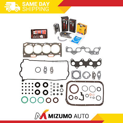 Fit Full Gasket Set Main Rod Bearings Piston Rings 92-95 Toyota Paseo 1.5 5EFE