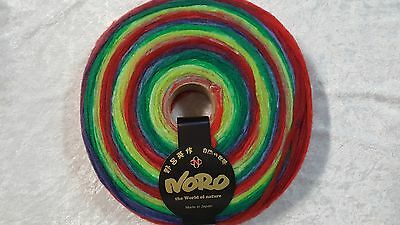 Noro Rainbow Roll #1019 Sliver for Spinning for Felting 100% Wool 100g