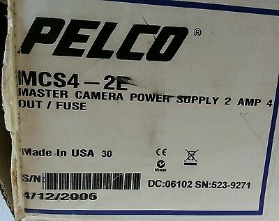 Pelco MCS4-2E Master Camera Power Supply New in Box