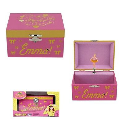 The Wiggles Emma Musical Jewellery Box Girls Ballerina Play Toy Gift Pink