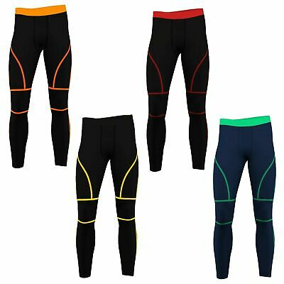 MENS COMPRESSION PANTS Gym Tights Running Cycling Skins X S M L XL 2XL 3XL 4XL
