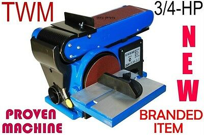 Belt & Disk Linisher TWM 4 x 6-inch Induction motor, brand new item PROVEN ITEM