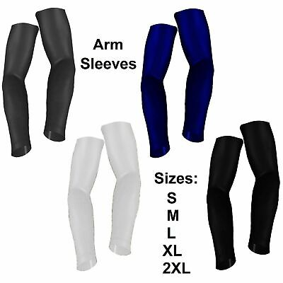 ARM SLEEVES COMPRESSION Elbow Sleeve Black White Navy Grey Basketball Golf S-2XL