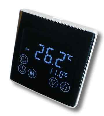Digital Thermostat LED Touchscreen Raumthermostat schwarz #a61