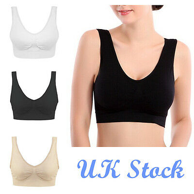 NEW Seamless Sports Style Bra Crop Top Vest Comfort Stretch Bras Shapewear UK