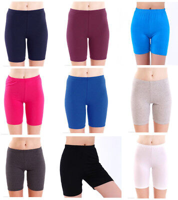 Cotton Leggings 1/3 Length Obove-Knee Shorts Active Sport Dance Cycling UK8-22