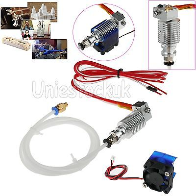 12V 3D Drucker Printer V6 J-head 1.75mm Bowder Hotend Extruder 0.4mm mit Lüfter