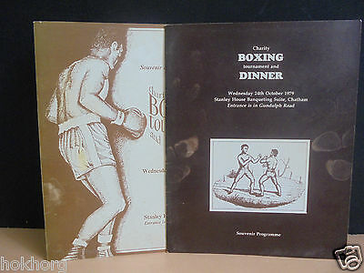 Boxing Programmes /menu Charity Tournament And Dinner 1978 / 1979 Chatham Kent