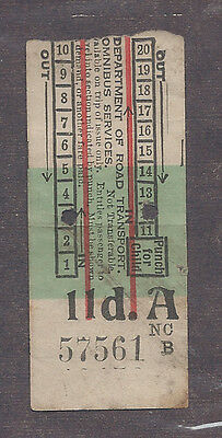 NEWCASTLE NSW - SPEERS POINT 1943 11d BUS TICKET $10