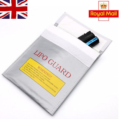 RC LiPo Battery Safety Bag Safe Guard Charge Fireproof Sack 30*23cm Silver in UK