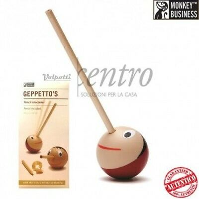 Monkey Business Geppeto's Pencil Sharpener Temperamatite In Legno Pinocchio