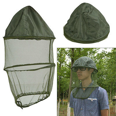 Mosquito Midge Insect Head Net Hat Mesh Face Protector Camping Fishing Cap New