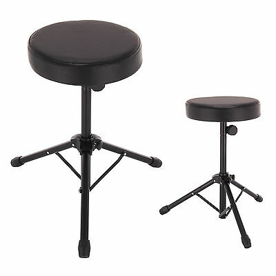 Foldable Music Guitar Keyboard Drum Stool/Throne Piano Chair DOUBLE PADDED Seat