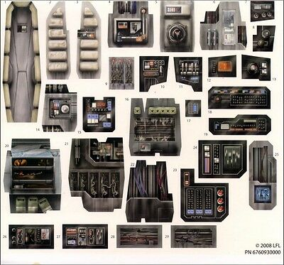 Replacement Stickers Sheet Hasbro Star Wars Millennium Falcon Legacy Collection