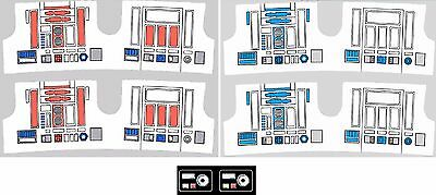 Replacement Sticker Label Sheet Vintage Kenner Star Wars R2-D2 R5-D4 Power Droid