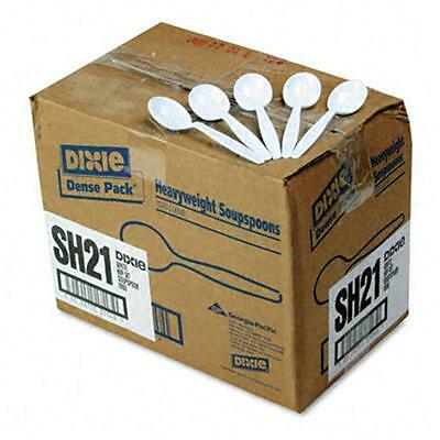 New ! 1000PK Plastic Cutlery, Heavyweight Soup Spoons, White,  SH217