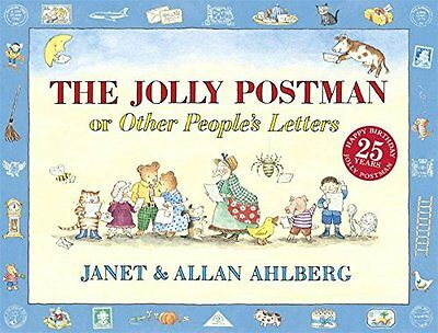 Jolly Postman By Janet & Allan Ahlberg Fairy Tale Story Book Letters Kids New