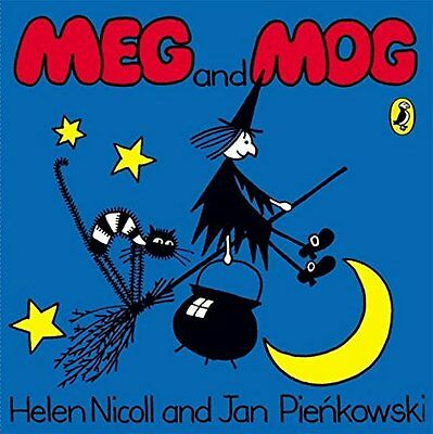 Meg & Mog By Helen Nicoll Board Book Story Witch Magic Broomstick Kids New