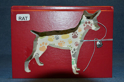 Rat Terrier Upcycled Book - 001