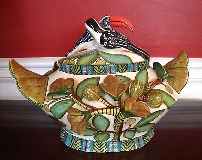 ARDMORE CERAMIC BOWL TOUCON BIRD TUREEN & Lid 2-pc JAR, AAA-rated ORIGINAL $9K+