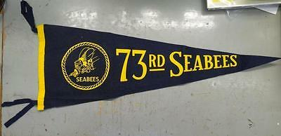 Ww2 73Rd Seabees Pennant #misc555