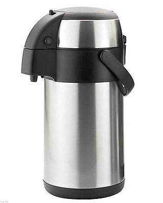 2.5 Litre Stainless Steel Pump Action Airpot Vacuum Flask Thermos Jug Air Pot