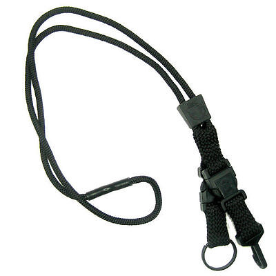 Black EK Breakaway Lanyard with Detachable ID Hook And Key Ring (10230) by EK US