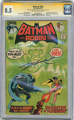 1971 Batman 232 CGC 8.5 Signed by Oneil & Adams 1st Ras Al Ghul