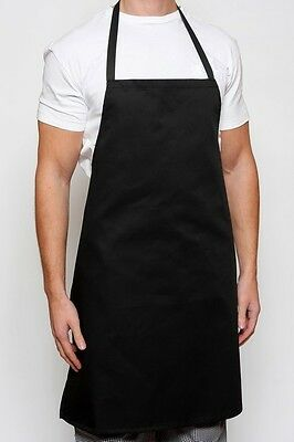 NEW Commercial Poly Craft Kitchen Restaurant Aprons (Set of 6 Aprons) Black