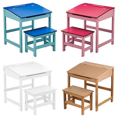 Childrens Kids Home Work Reading Writing Study Table Storage Desk And Stools