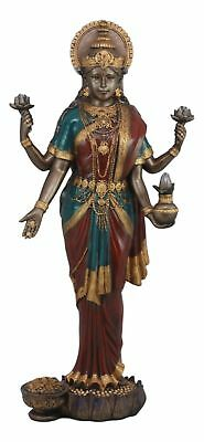"Large 19.75""H Goddess Lakshmi Statue Hindu Deity of Prosperity Wealth Figurine"