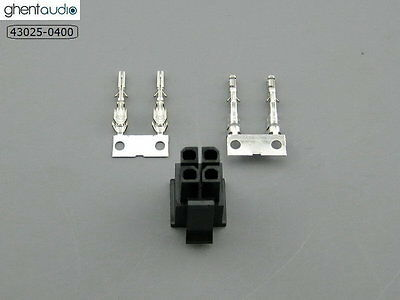 2 sets --- molex 43025-0400 Micro-Fit 3.0mm 4-circuits Housing & Crimp Terminal