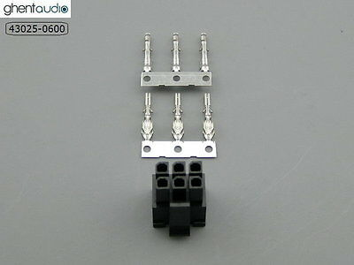 2 sets --- molex 43025-0600 Micro-Fit 3.0mm 6-circuits Housing & Crimp Terminal